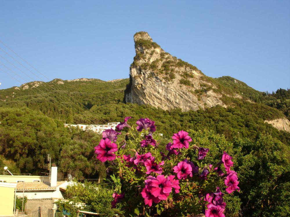 mountain view of agios gordios