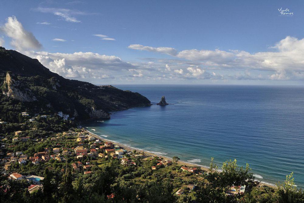 agios gordios corfu panoramic view