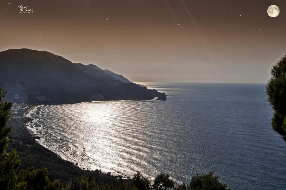agios gordios panoramic view