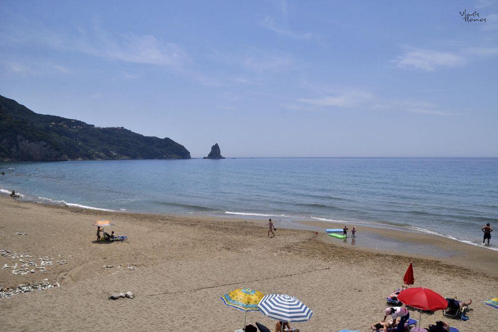 the beach of agios gordios